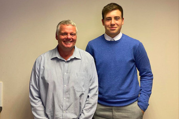 Completing work experience with Steve Mitchell, designer at SB Homes