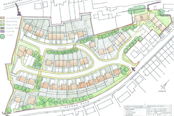Proposed development for new houses at Lingards Road, Slaithwaite.